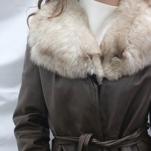 Fur Trimmed Winter Coat